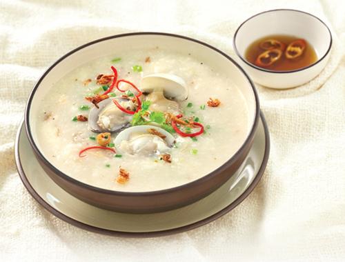 Cháo ngao biển, trứng muối 1