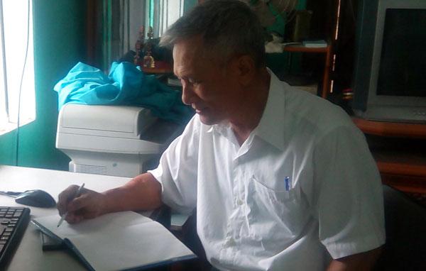 Ông Đỗ Hữu Khắc – cây bút đã nhiều năm kinh nghiệm trong nghề báo chí