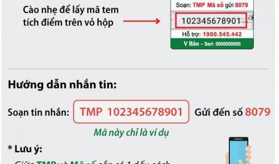 Nhận ngay 1 hộp Vương Bảo khi tích đủ 6 điểm bằng hình thức nhắn tin đơn giản